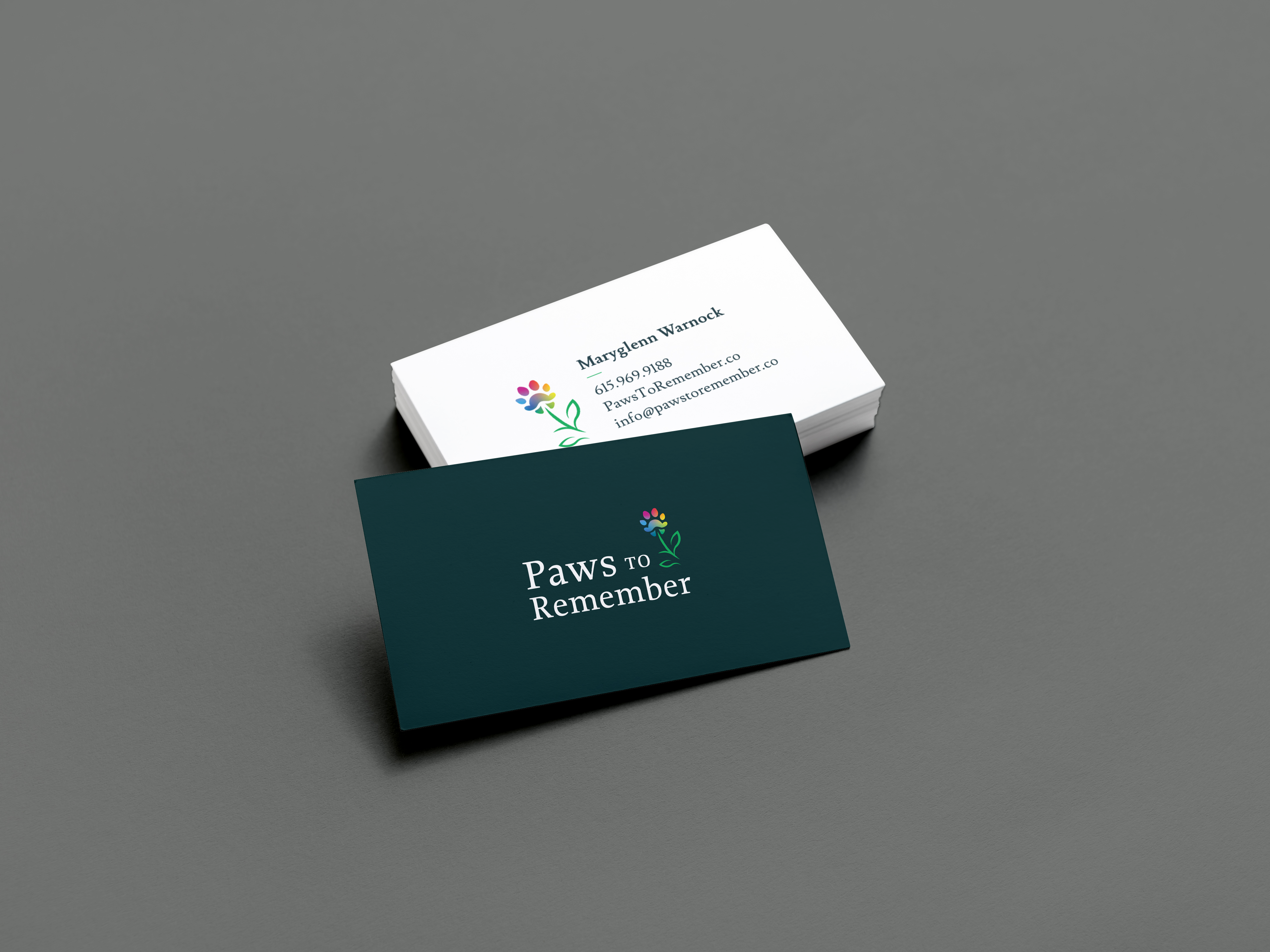 Paws to remember Business Card